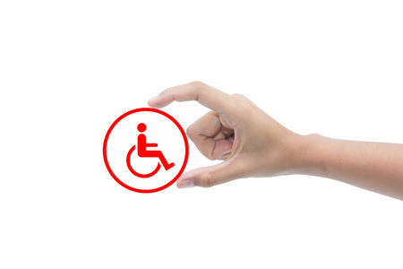 assistive: Finger for disabled  Stock Photo