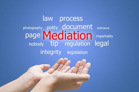 Businessman Hand Showing Mediation Word