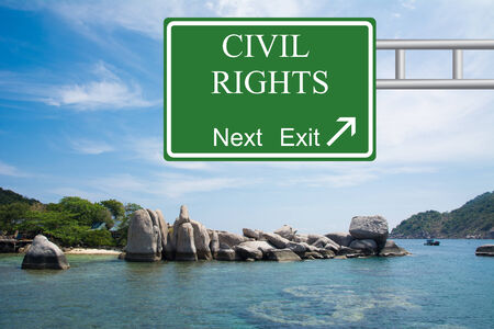 Creative CIVIL RIGHTS Road Sign