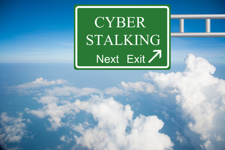 harass: Creative CYBER STALKING Road Sign