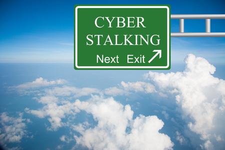 stalking: Creative CYBER STALKING Road Sign