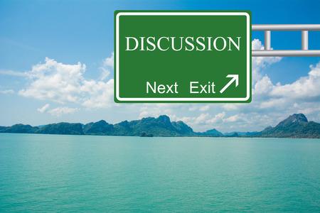 deliberation: Creative DISCUSSION Road Sign concept.
