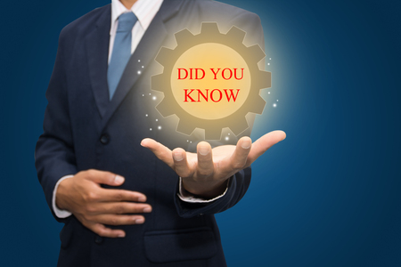 Businessman Hand Showing DID YOU KNOW Word