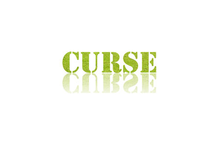 curse: word CURSE in double exposure