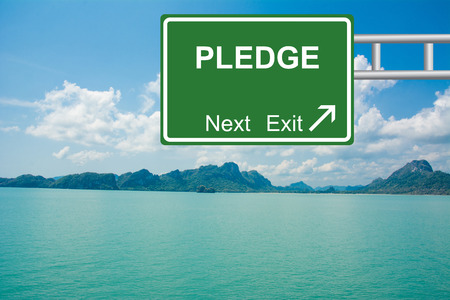 pledge: Creative PLEDGE Road Sign concept.