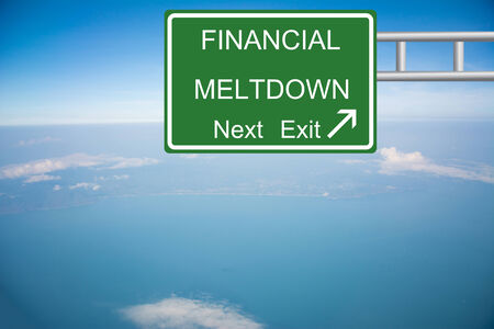 budgetary: Creative Road Sign FINANCIAL MELTDOWN