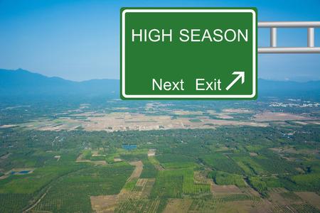 Creative Road Sign HIGH SEASON