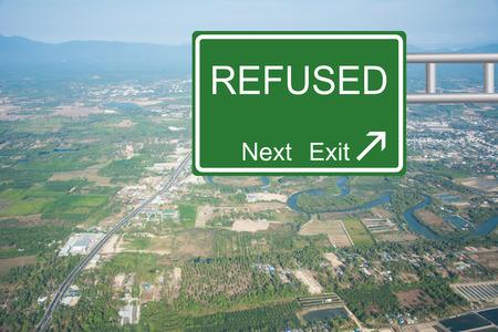 dismissed: Creative Road Sign REFUSED