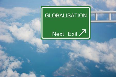 Creative Road Sign GLOBALISATION