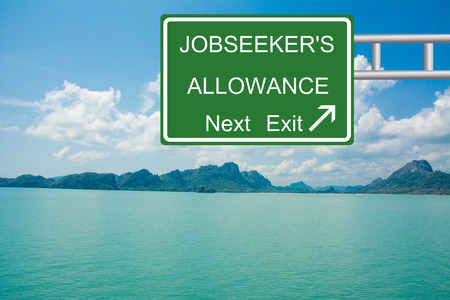 allowance: Creative Road Sign JOBSEEKERS ALLOWANCE