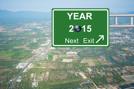 Write a New Year, New You road sign green Concept 2015