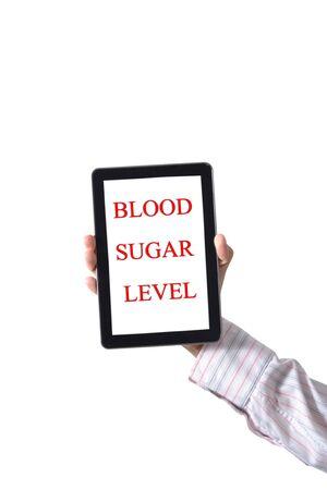 Behandel de tablet bloedsuikerspiegel