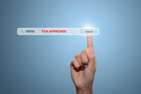 fda: Business hand white FDA APPROVED