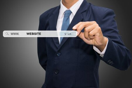 dynamic html: Business man hand writing WEBSITE Stock Photo