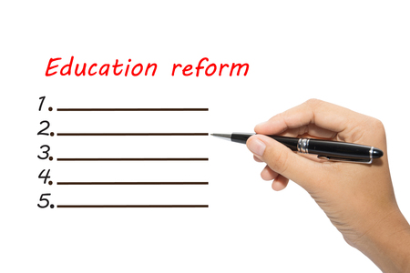 Business hand writing Education reform