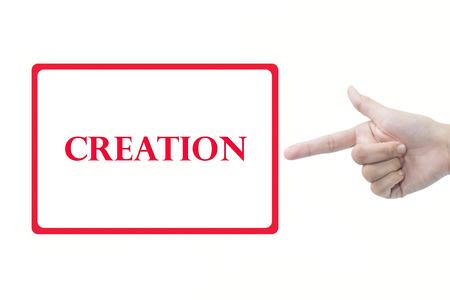 dynamic html: Businessman hand pointing creation