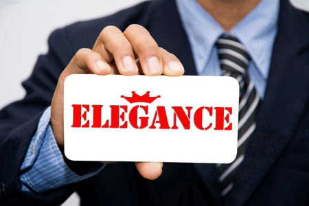 elegance: Businessman hand holding elegance concept Stock Photo