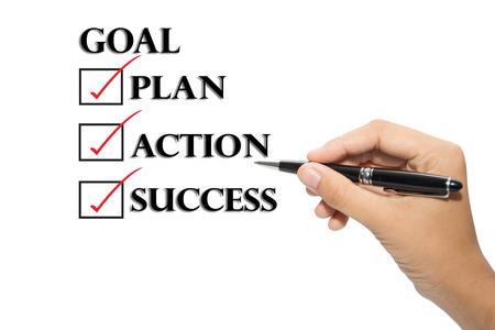 Choosing between goal plan action success