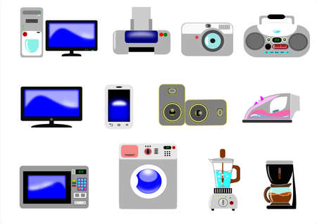 Home appliances icons  Stock Vector - 14982076
