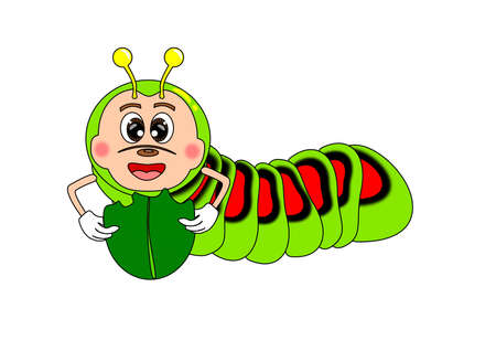 Caterpillar cartoon  Vector