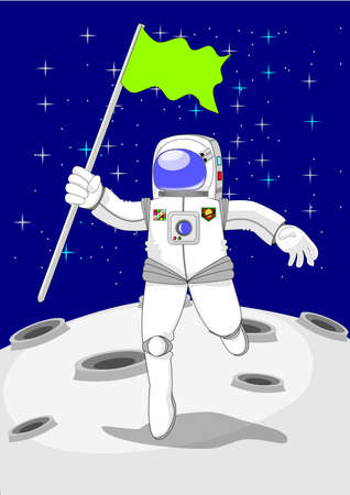 Astronaut cartoon vector Illustration