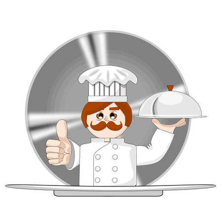 요리사의 만화 벡터 일러스트