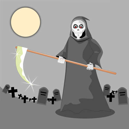 Grim reaper cartoon vector Vector