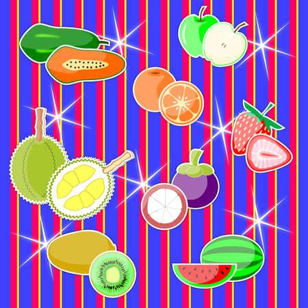 과일 배경 스톡 콘텐츠 - 16617701