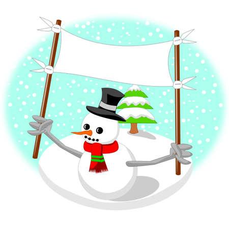 upraise: snowman Illustration