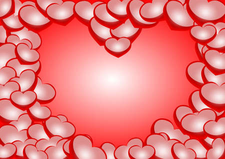 Heart shape background