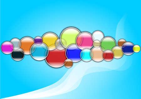 여러 가지 빛깔 된 거품 배경