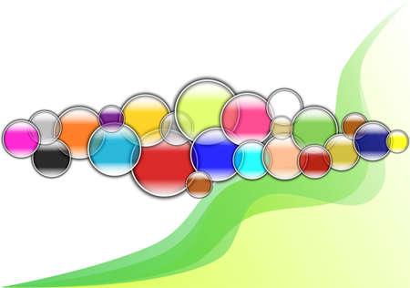 Multicolored Bubble background