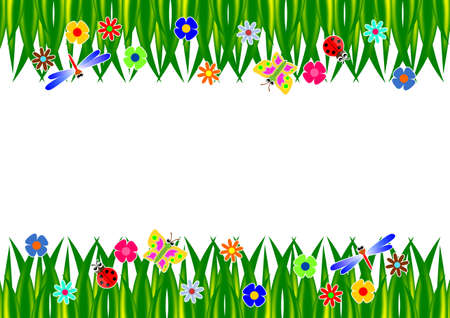 Grass Frame Illustration