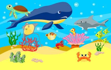 sea anemone: Under the sea Illustration
