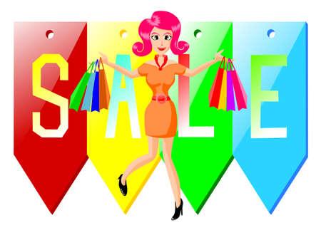 Shop on sale Illustration