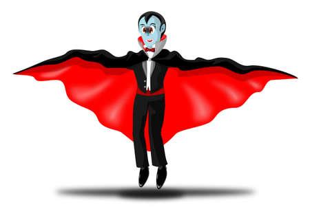 Flying Vampire Cartoon