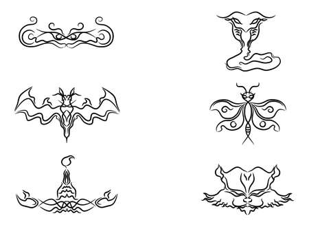Animal tattoo elements