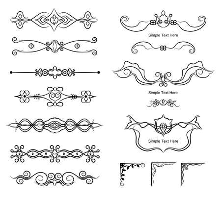 Calligraphic elements for design and page decoration