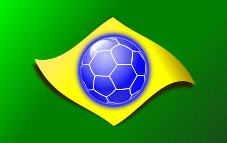 브라질 깃발 일러스트