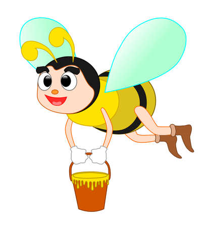 collect: Bee collecting honey