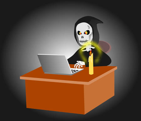 Dead man working Illustration
