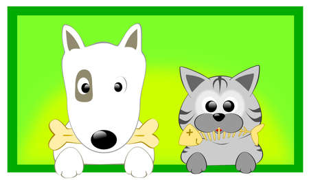 dog bite: dog and cat