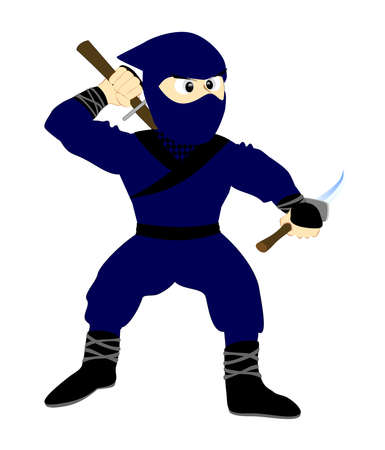 Ninja with double swords