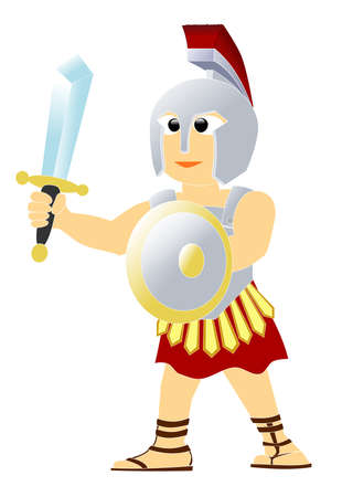 The soldier of Roman Empire Illustration