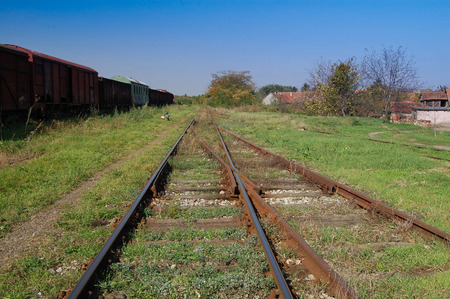 turnouts: Crossover to the railway line that connects two tracks.