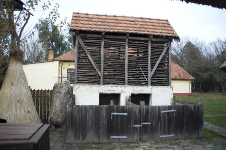restrain: Old rural property has retained the appearance of less than 100 years.