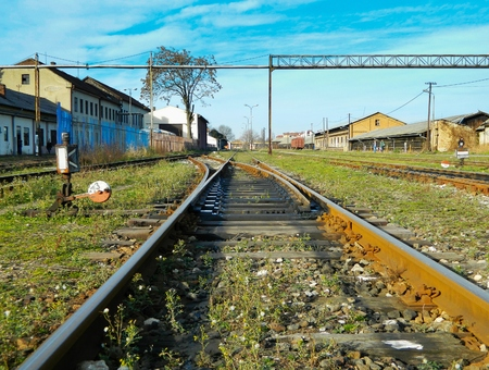 turnouts: Old turnouts on the railway train station. Its function is crossing train tracks with ma track.