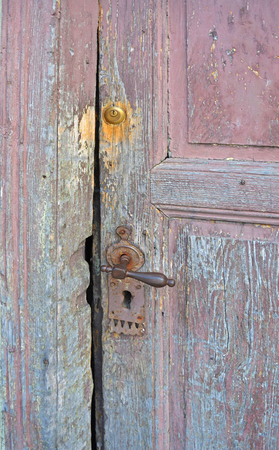 stock photography: The old front door to the house in the town.