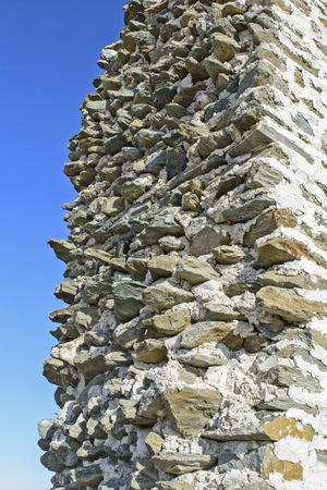stock photography: Stone spikes protruding from the wall.