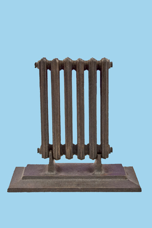 stock photography: miniature model of a radiator on a white background.